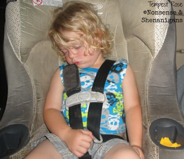sleeping in carseat
