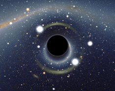 Photo Credit: Alain r / Wikipedia (CC BY-SA 2.5) I imagine it looks something like this, black hole and all.