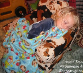 sleeping in toddler chair