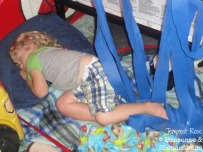 Toddler sleeping on floor, floor bed