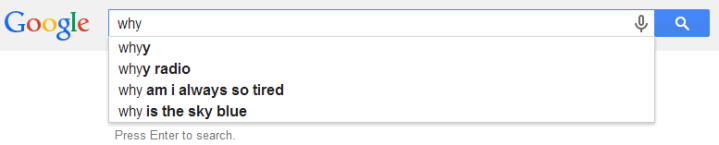 You haven't guessed my question yet, Google! But you might be a little psychic, because why am I so tired?! Moving on --
