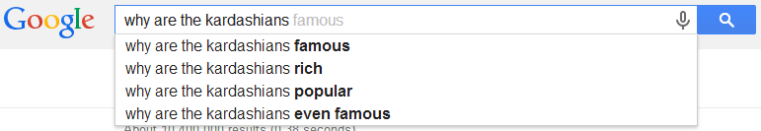 Good one, Google users. Why are they EVEN famous? Like, I so totally cannot even right now. That's how that phrase goes, right?