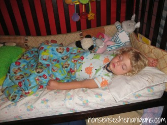 first night sleeping in toddler bed