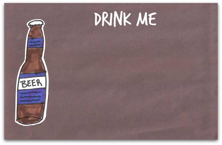 drink me beer doodle
