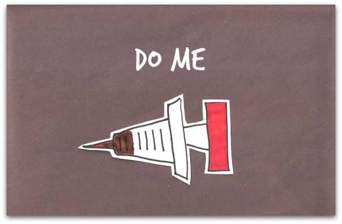 draw syringe doodle