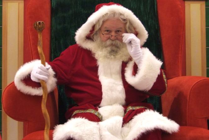 Stern Santa